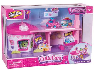 Shopkins Cutie Cars Playset Con Autos Exclusivos