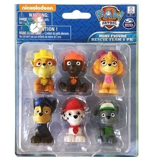 EQUIPO RESCATE X6 PAW PATROL 5 CM NICKELODEON TV