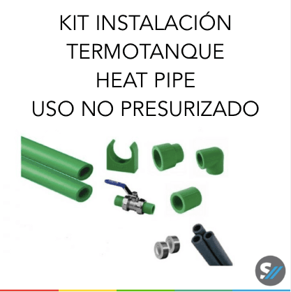 Kit de Instalación para Termotanques Heat Pipe en uso No presurizado