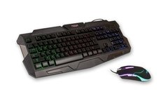 Kit Teclado Mouse Gamer Retro Iluminado Noganet Nkb 47 Usb