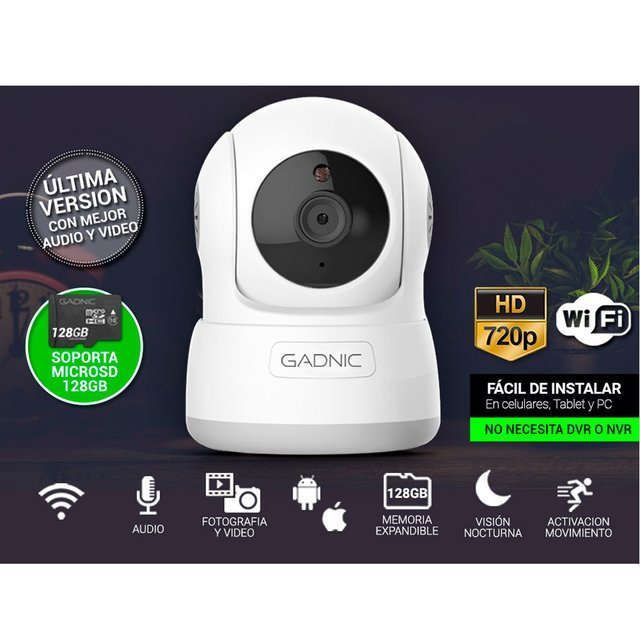 CAMARA IP GANIC P2P00010 WIRELESS P2P HD720 - tienda online