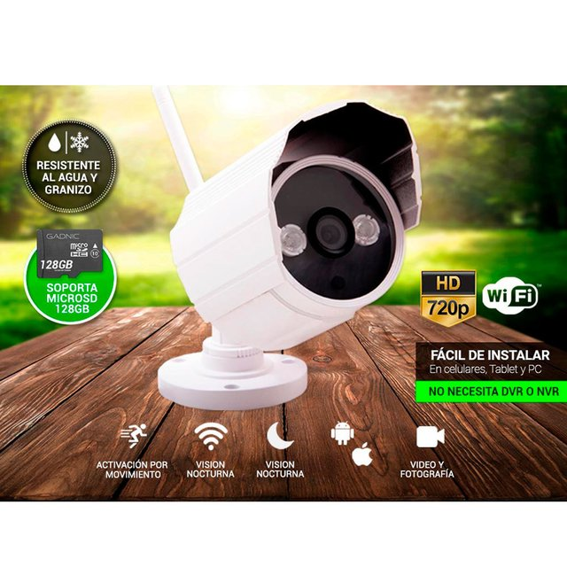 CAMARA IP GANIC P2P00014 WIRELESS P2P HD720 FIJA - comprar online