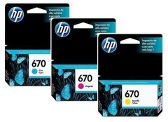 Cartucho Hp Mod: 670 Cyan Mag Am Carga 3,7 Ml - Original