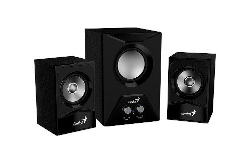 Parlantes Genius Sw 2.1 385 Sub Woofer Madera Ctrol Vol Bass