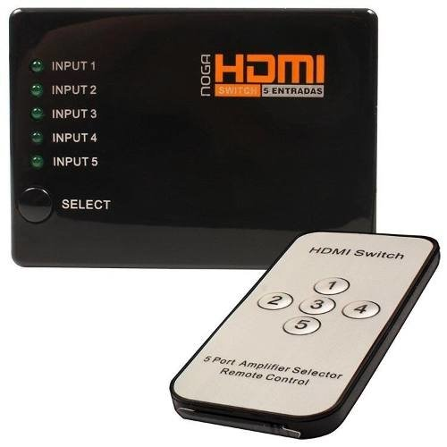 Data Switch Hdmi Noganet 5 Hdmi In 1 Hdmi Sw5t 5 E 1 Remoto