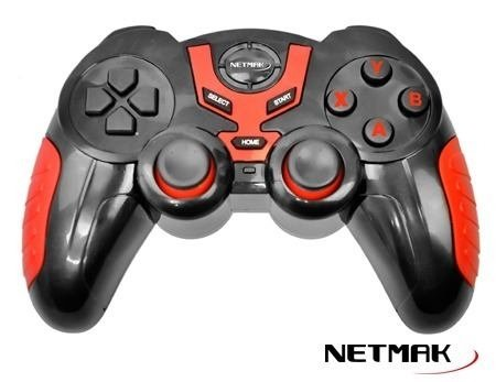Joystick Gamepad Netmak Bluetooth Pc Andorid Ios Nm J7024