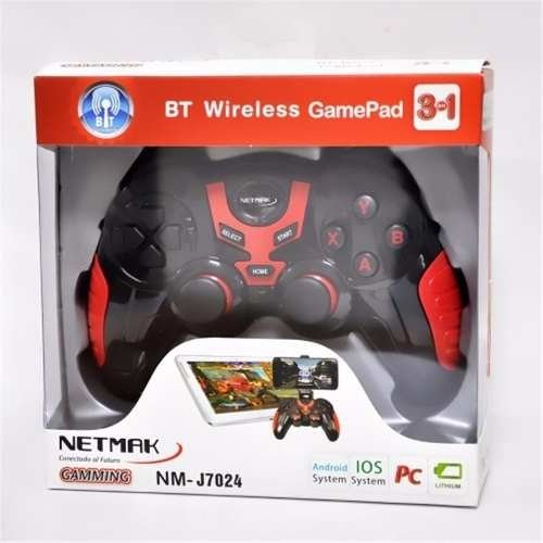 Joystick Gamepad Netmak Bluetooth Pc Andorid Ios Nm J7024 - comprar online