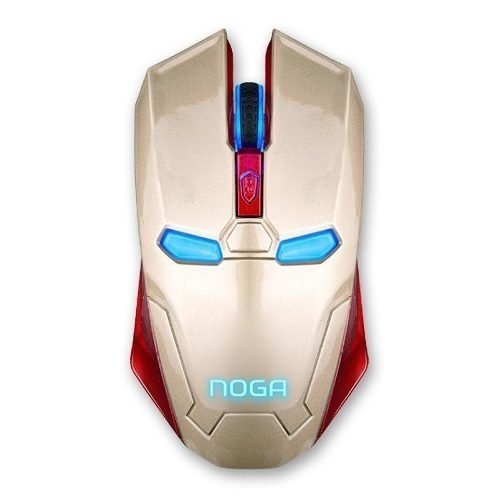 Mouse Noga St Steel Tematico 1200 Dpi Gamer Usb Luz Iron Man