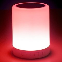 Parlante Bluetooth Portátil Noganet Ng Lamp 5w Luz Led Color
