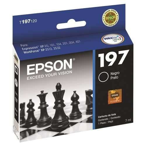 Cartcuho Original Negro  Epson 197 Maxima Capacidad 7ml