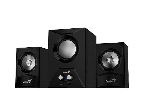 Parlantes Genius Sw 2.1 385 Sub Woofer Madera Ctrol Vol Bass - comprar online