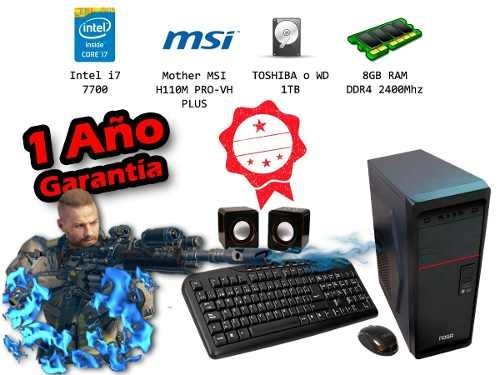 Pc Gamer Intel I7 7700 1tb 8gb Ddr4 Msi H110m Pro Vh Plus