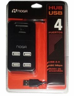 Hub Usb Noganet 4 Puertos Ngh 43 Usb 2.0 On/off Pc Notebook