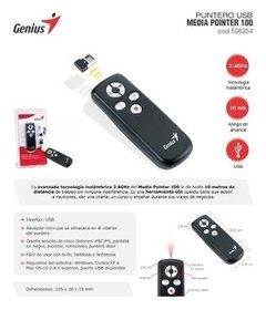 Puntero Presentador Laser Media Pointer 100 Genius Mini