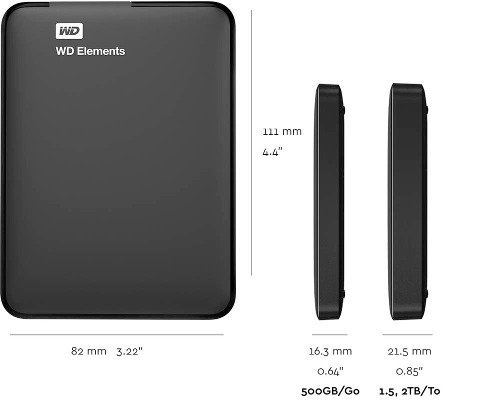 Disco Externo Western Digital Hdd 1tb Wd Elements Usb 3.0 - comprar online