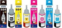 Tinta Original Epson Kit 664 Rendimiento 70ml Sist. Continuo