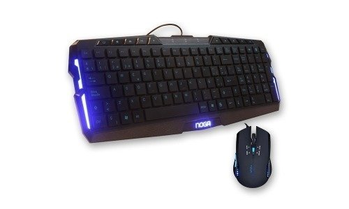 Kit Teclado Mouse Noganet Nkb Jk003 Mouse 2400dpi Led Royal