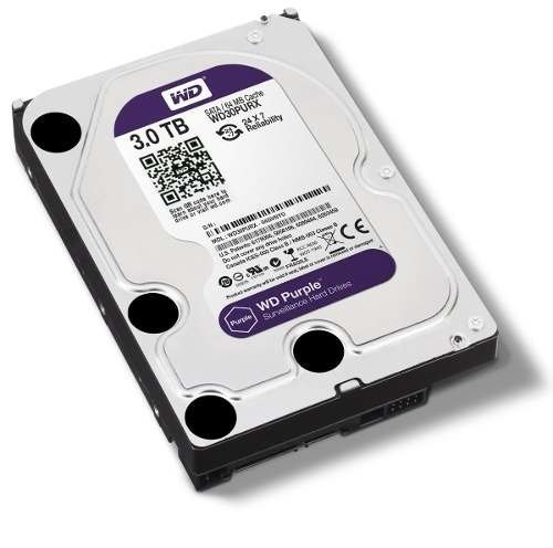 Disco Wd Western Digital Purple Purpura 3tb Vigilancia Royal - comprar online