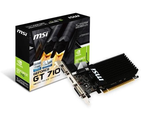 Placa De Video Msi Gt 710 1gb Ddr3 Hdmi Dvi Vga Low Profile - comprar online