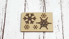 Sello Bajo Relieve 9 x 12 cm COPOS DE NIEVE