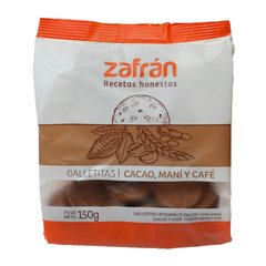 Galletita Integral - Cacao, Mani y Cafe - Zafran - 150 g