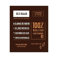Barra Natural Proteica Cacao - Ki Bar - 80 g