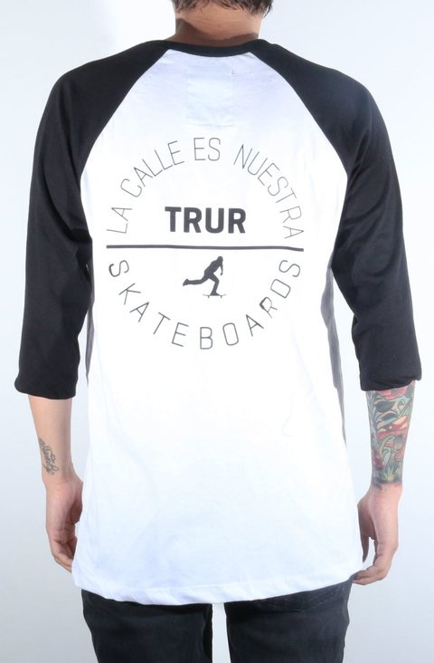 TRUR Skateboards Camiseta 3/4 Conic