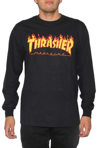 Thrasher Camiseta Manga Larga Flame