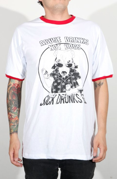 Sick Drunks Camiseta Abuse Drinks No Dogs