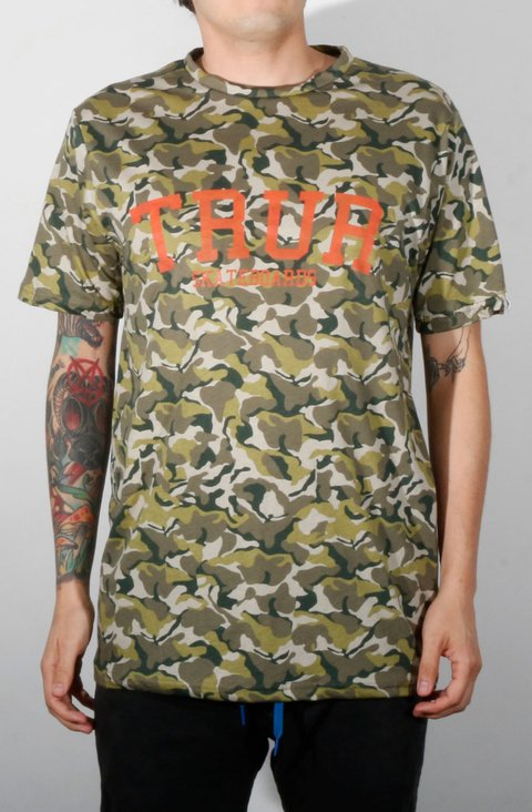 TRUR Skateboards Camiseta College Militar