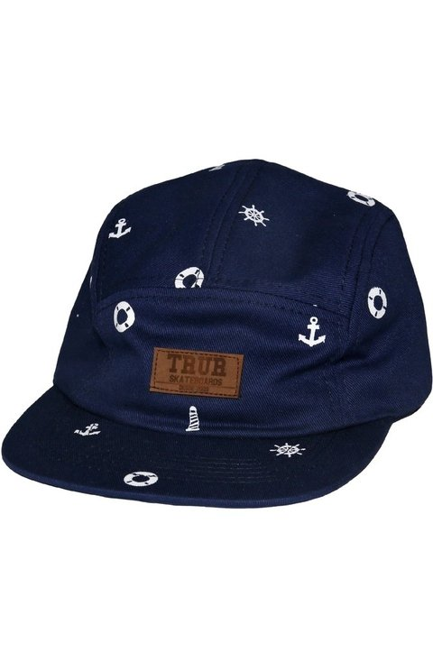 TRUR Skateboards Gorra Simbolos Naval 5Panel