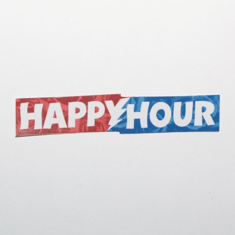 Happy Hour Sticker Bar Logo Dead Roses Mediano en internet