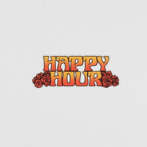 Happy Hour Sticker Roses Pequeño