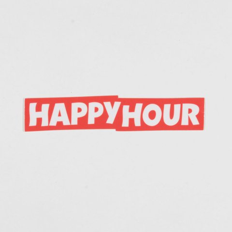 Happy Hour Sticker Logo Mediano