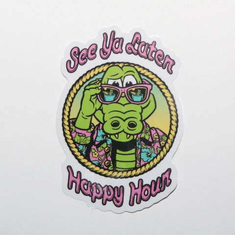 Happy Hour Sticker See Ya Later Mediano