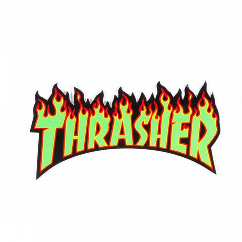 Thrasher Sticker Flame Mediano