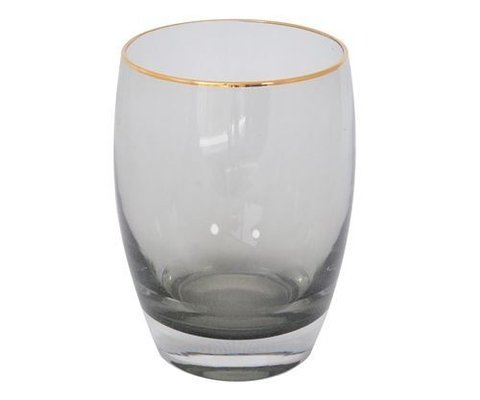 VASO BLACK GLASS BOMBÉ