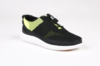 COMBO RUNNING WHITE + STRINGA KNIT YELLOW - comprar online