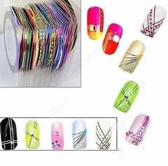 Kit 5 Fitas Adesivas Metalizadas Nail Art Escolha As Cores! na internet