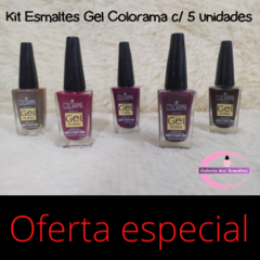 Kit esmaltes Gel Colorama (5 unidades no total) Promo especial