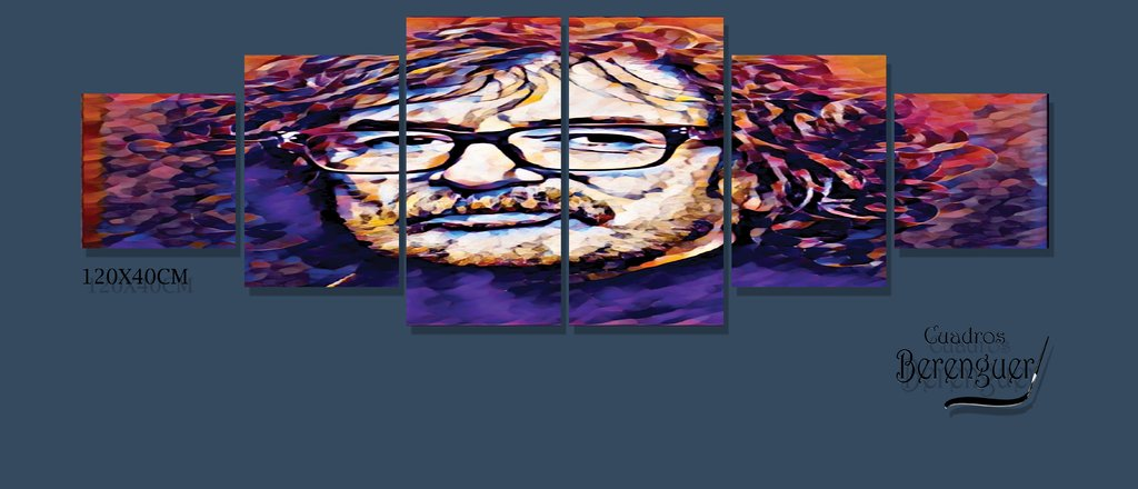 CUADRO INFINIT SMALL CHARLY GARCIA COLOR 120X40CM