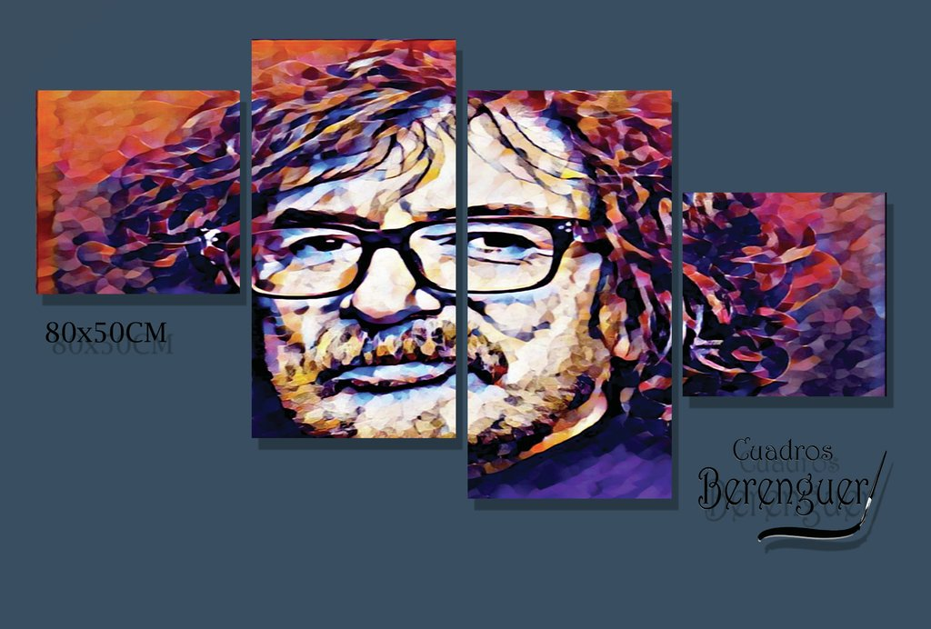 CUADRO PUZZLE CHARLY GARCIA COLOR 80X50CM