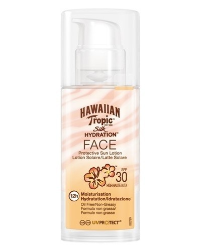 Hawaiian Tropic Locion Facial Con Listones Spf 30 X 50ml