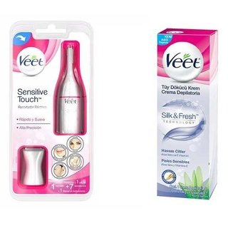 Depiladora Veet Sensitive Touch + Crema Cera Depilatoria