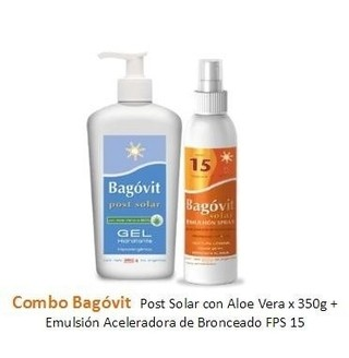 Combo Bagovit Gel Post Solar, 350g +spray Solar Fps15, 200g