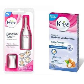 Depiladora Veet Sensitive Touch + Bandas Cera Depilatoria