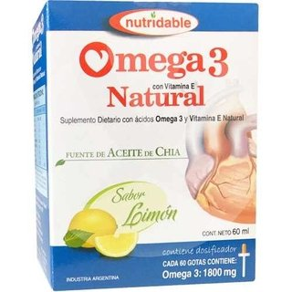 Omega 3 Natural Aceite Chia Vitamina E Gotas X  60ml