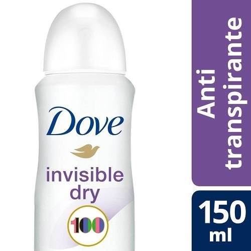 Dove Desodorante Femenino Aerosol Invisible Dry 89 Gr 150ml
