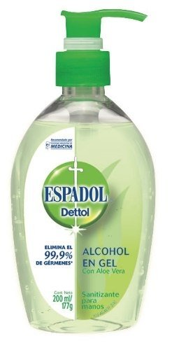 Espadol Dettol Alcohol En Gel Aloe Vera 200ml