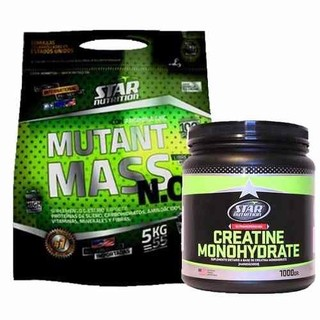 Oferta! Star Nutrition Mutant Mass 5 Kg + Creatina 1kg